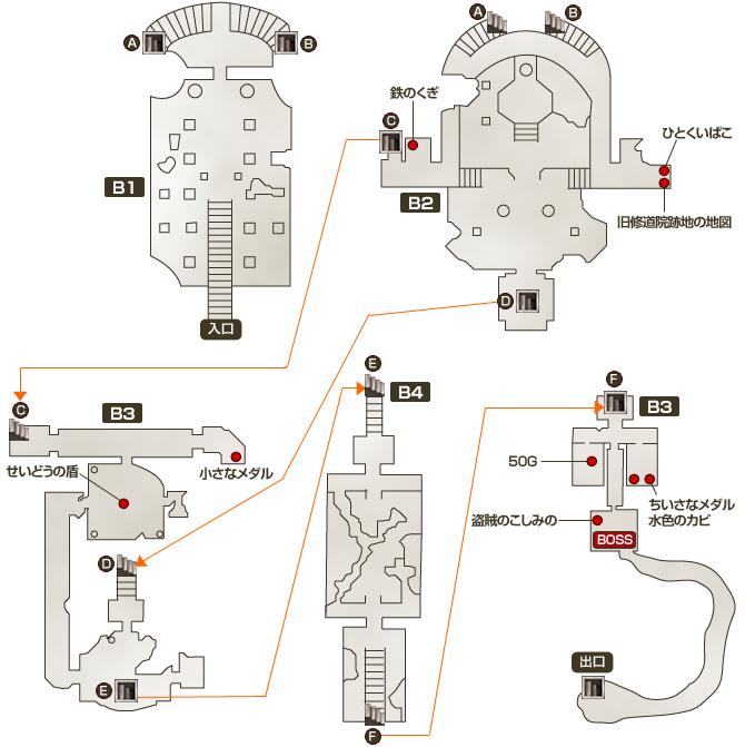旧修道院跡地マップ