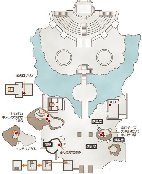 聖地ゴルド地図