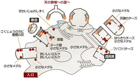 竜神族の里地図